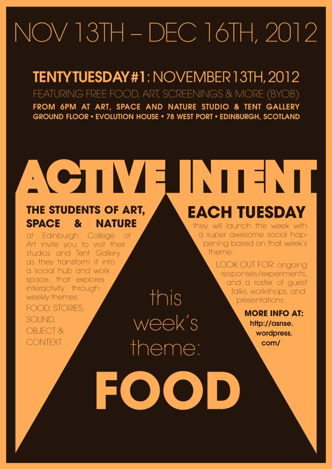 Active Intent, food week