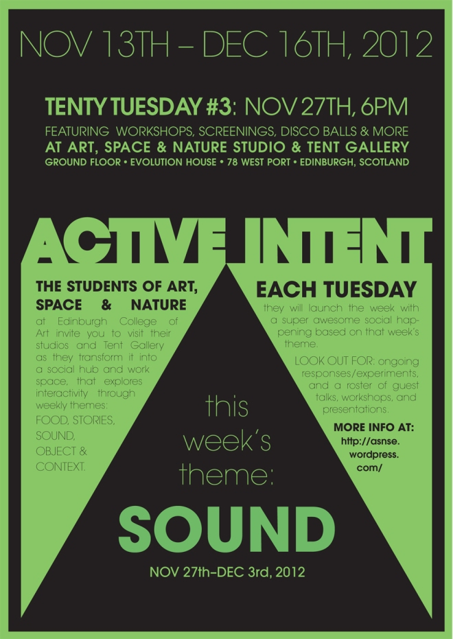 Art, Space and Nature Active Intent SOUND WEEK