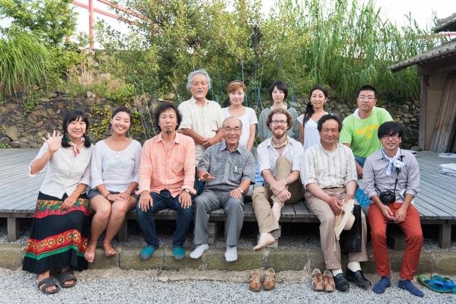 The project team at MEGI House in Megijima, Japan