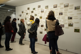 Visitors at the Final Straw exhibition opening