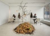 Suhee Kang and Patrick Lydon in the 'Centre for Endless Growth' Installation at TENT Gallery