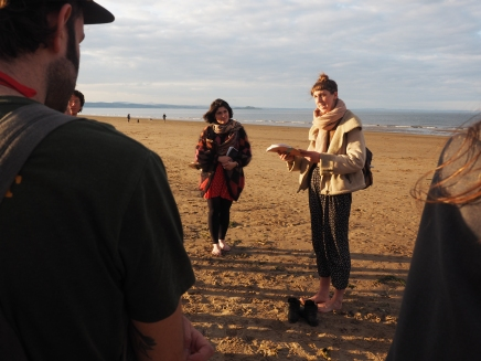 poetry reading on the beach